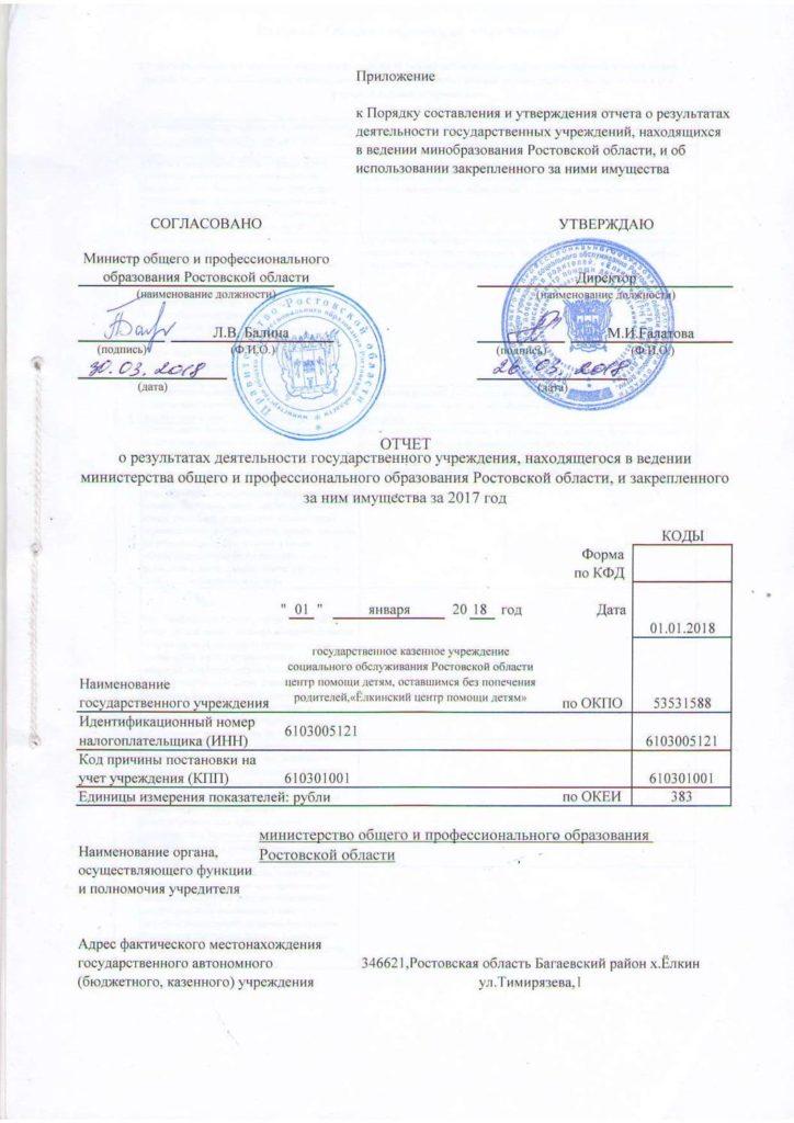 Отчёт о результатах деятельности за 2017г.